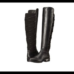 Vince Camuto - Tall Leather boots with tie up